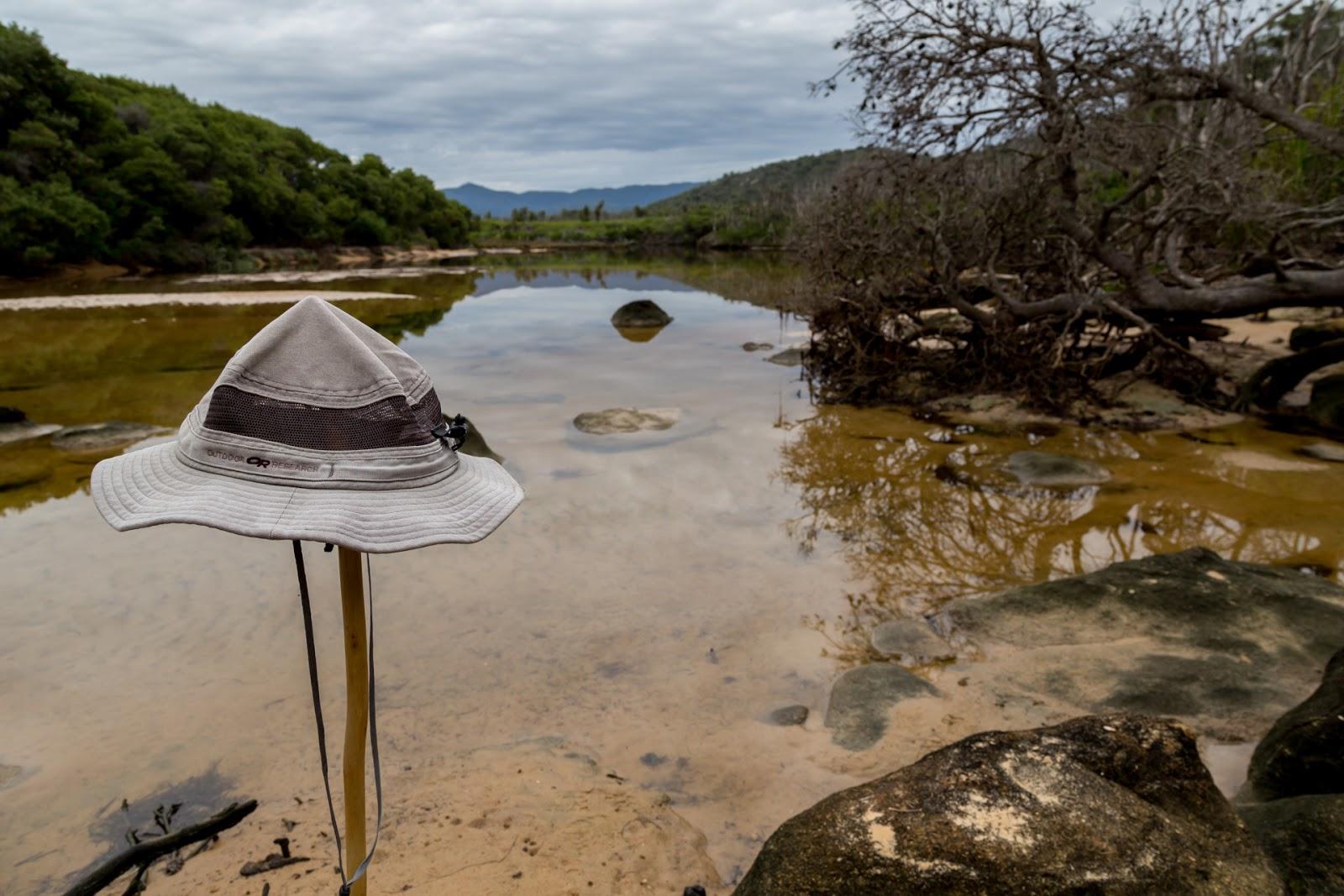 hat on stick miranda creek five mile beach wilsons promontory