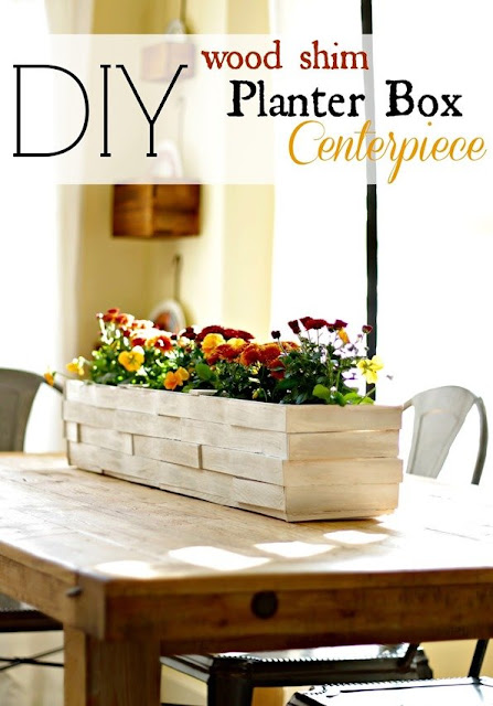 DIY Wood Shim Centerpiece