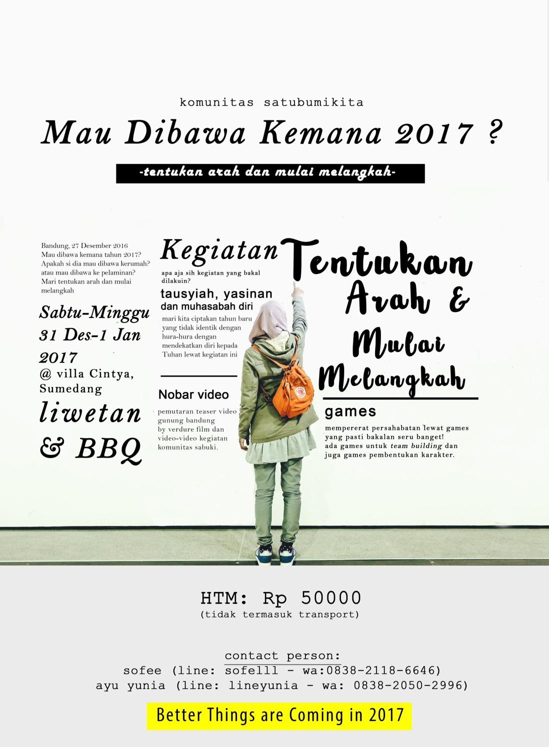 Mau Dibawa Kemana 2017? 31 Des - 01 Jan, Villa Sumedang