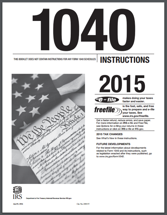 Instruction 1040ez Gallery Instructions Examples In English