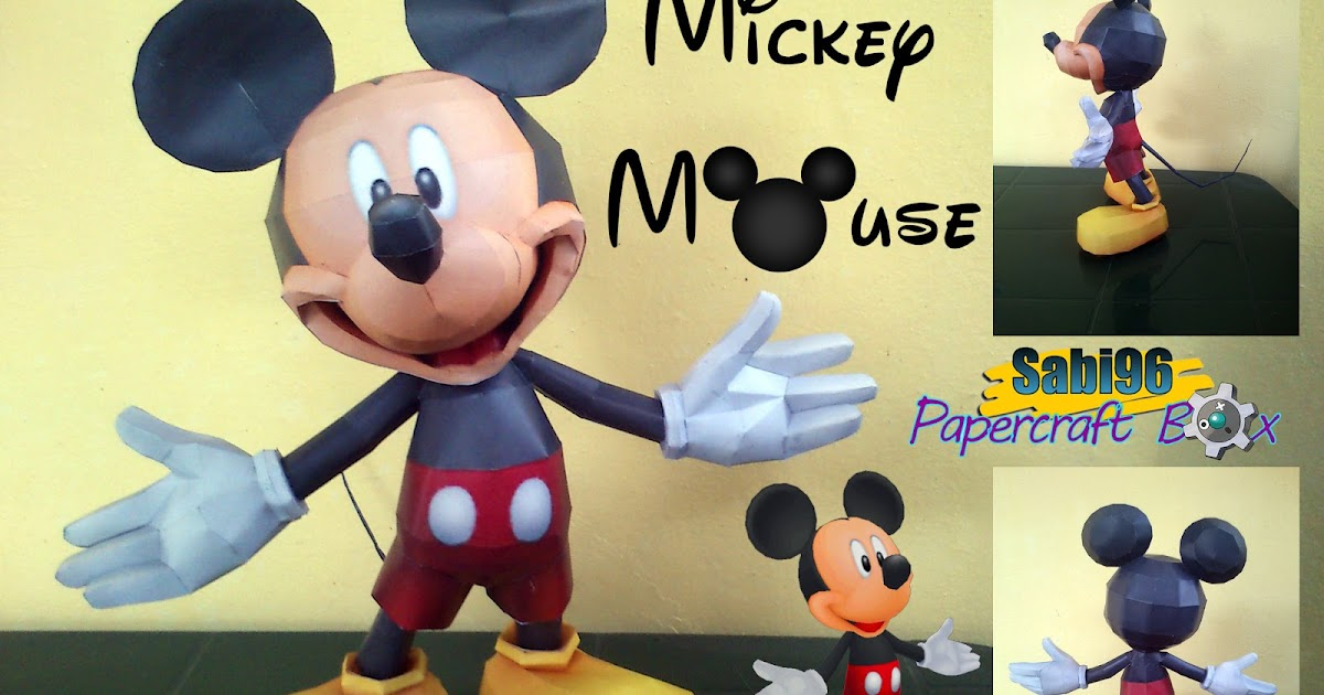 Paper Craft Hunter Mickey Mouse Paper Model