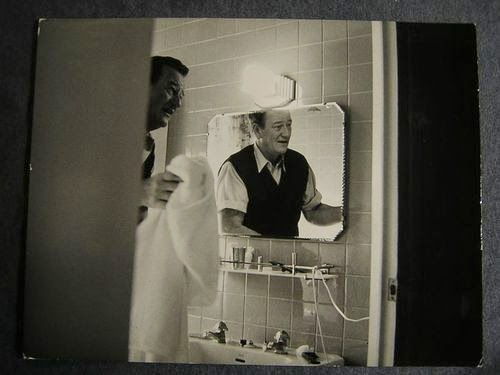 John Wayne in his bathroom.