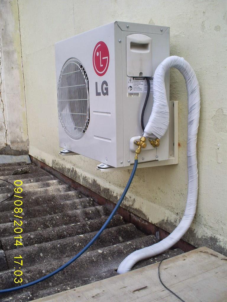 Split LG instalado na Rua Tereza Petrópolis-RJ