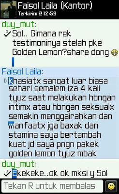 Testimoni Golden Lemon Juice