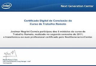 certificado intel