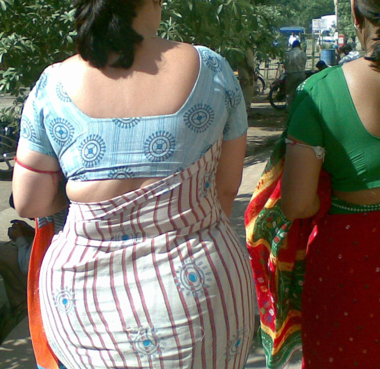 saree ass aunty Indian big
