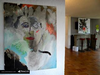 Peintures Albane Roux - exposition Gallering L'été bassin 2013