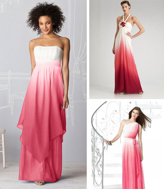 Pics Of Ombre Dyed Wedding Dresses