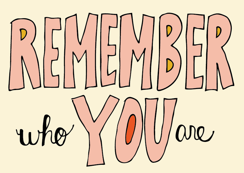 Remember Who You Are by Jana Miller #handlettering