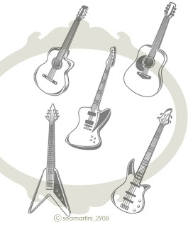 Image Guitar Vinyl Decal