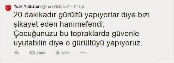 Türk Yıldızları Gürültü Tweetine