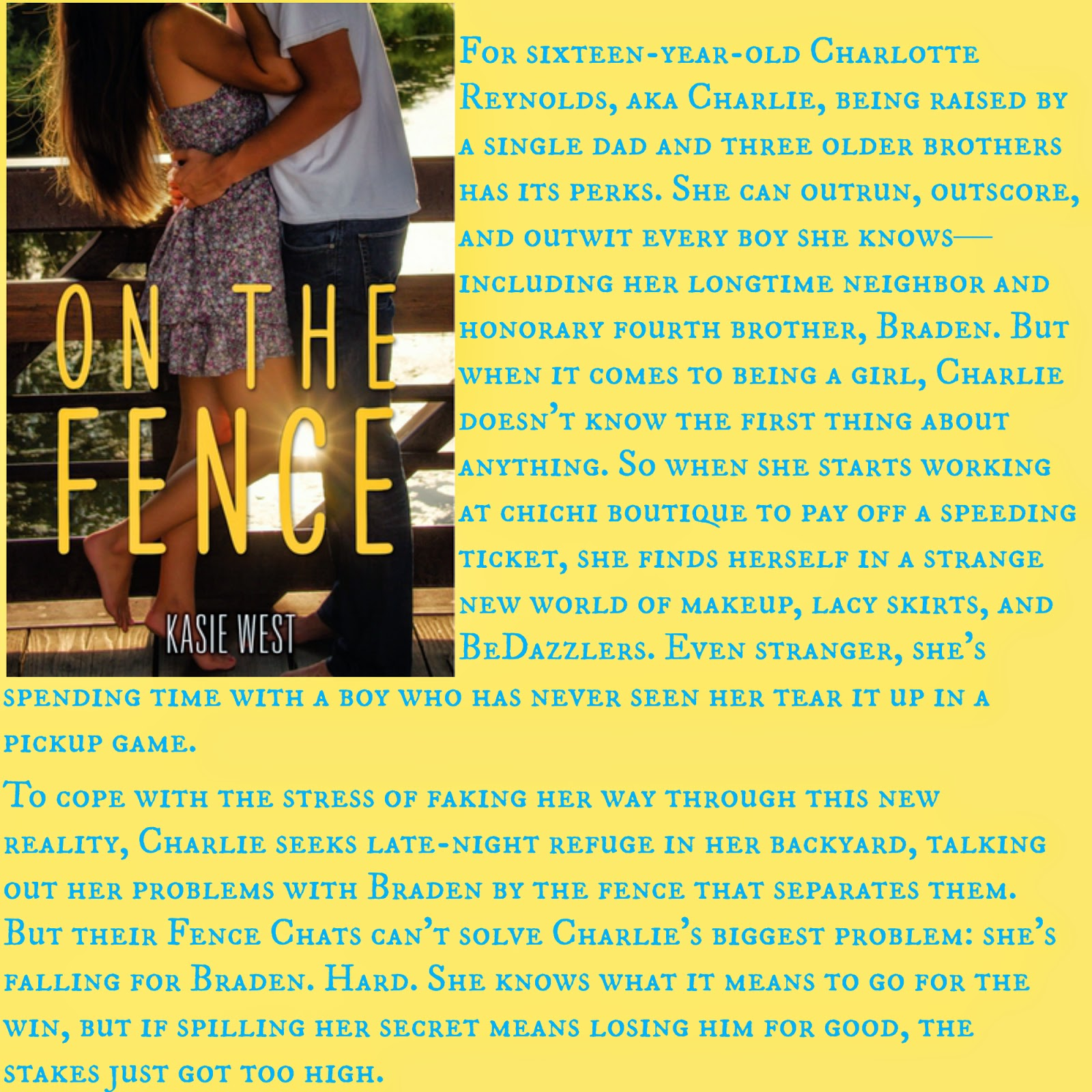 hello jenny reviews review on the fence by kasie west