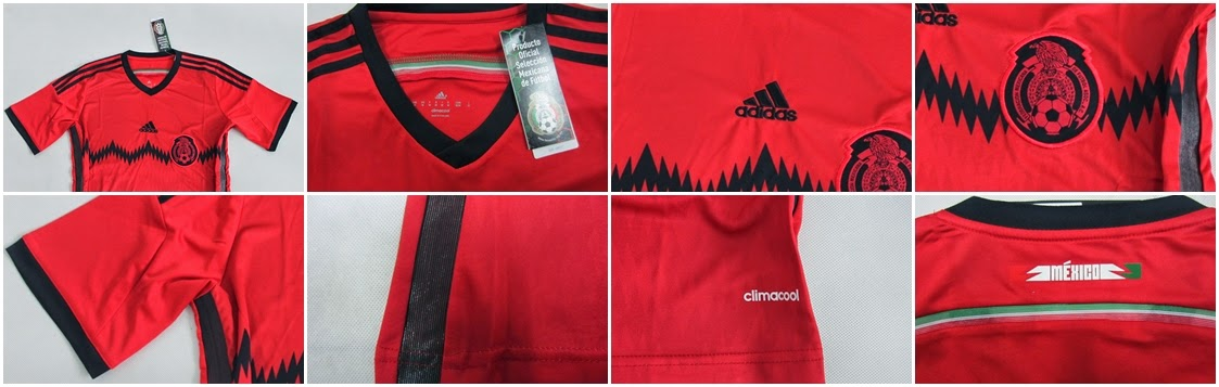 Detail Jersey Meksiko Away World Cup 2014 - Bola Wuss