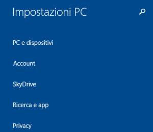 nuove opzioni in Impostazioni PC
