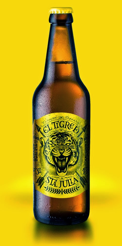 etichette birra design tigre santa julia packaging marketing naming grafica consumo