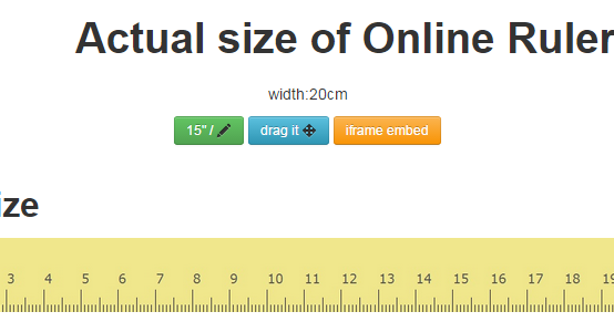 Online Ruler Actual Size: Free Online Ruler - web-based Ruler in ...