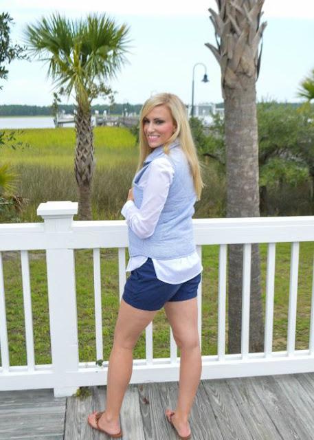 Seersucker Vest | Bikinis and Brunch Blog | sassyshortcake.com