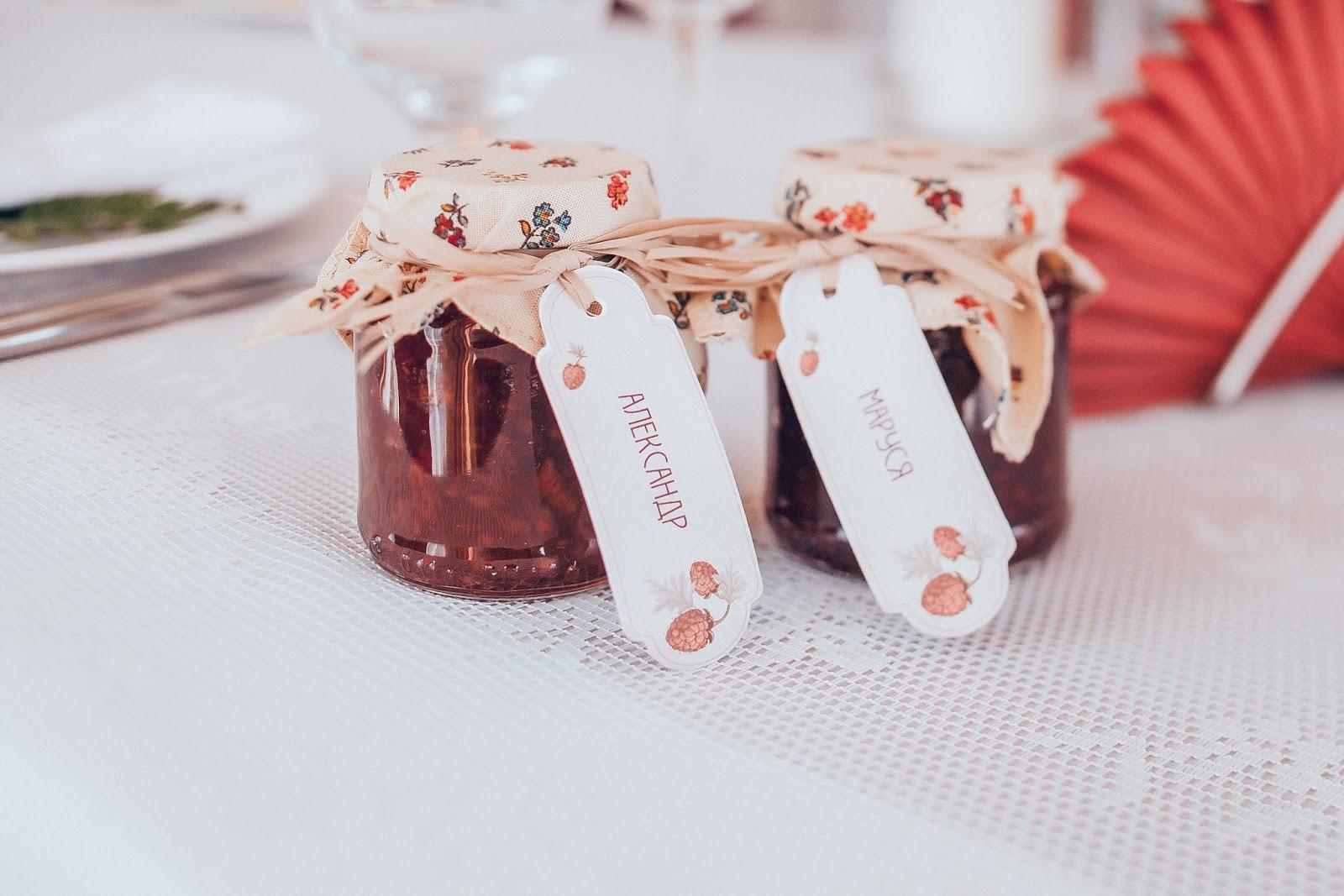 баночки с вареньем как подарки для гостей