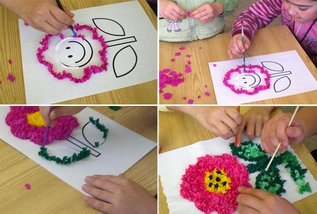 el arte de educar collage para hacer mural de primavera
