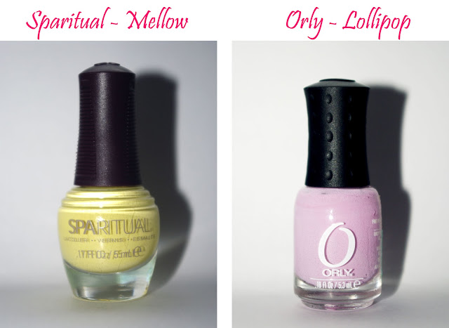 Mellow Sparitual nail polish and Orly lollipop