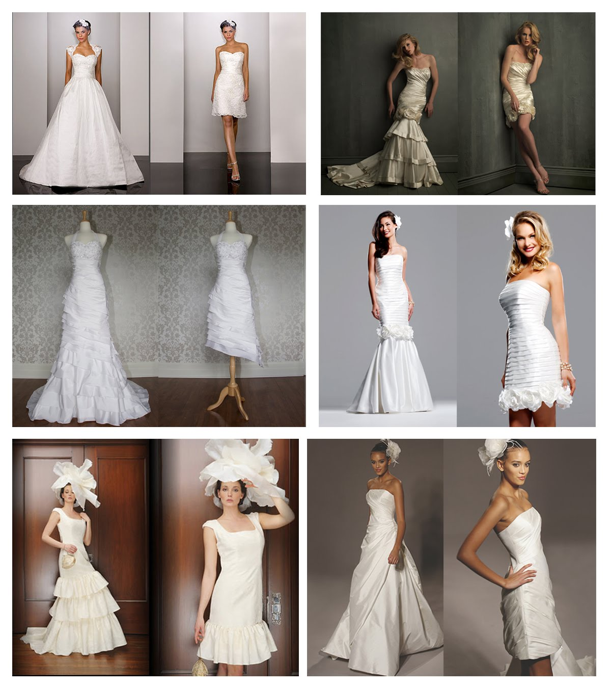 Brideindream convertible wedding dresses a good choice for you now with a breakaway skirt wedding dresses convertible can meet your needs in fact convertible wedding dress is a mixture of short and full length junglespirit Image collections