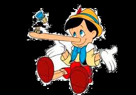 perfil de hombre mentiroso