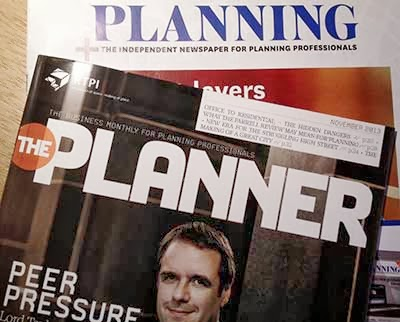 Two dreary Professional Planning magazines
