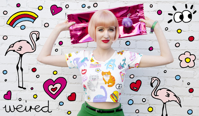 lazy oaf, pastel pink, pastel hair, kawaii