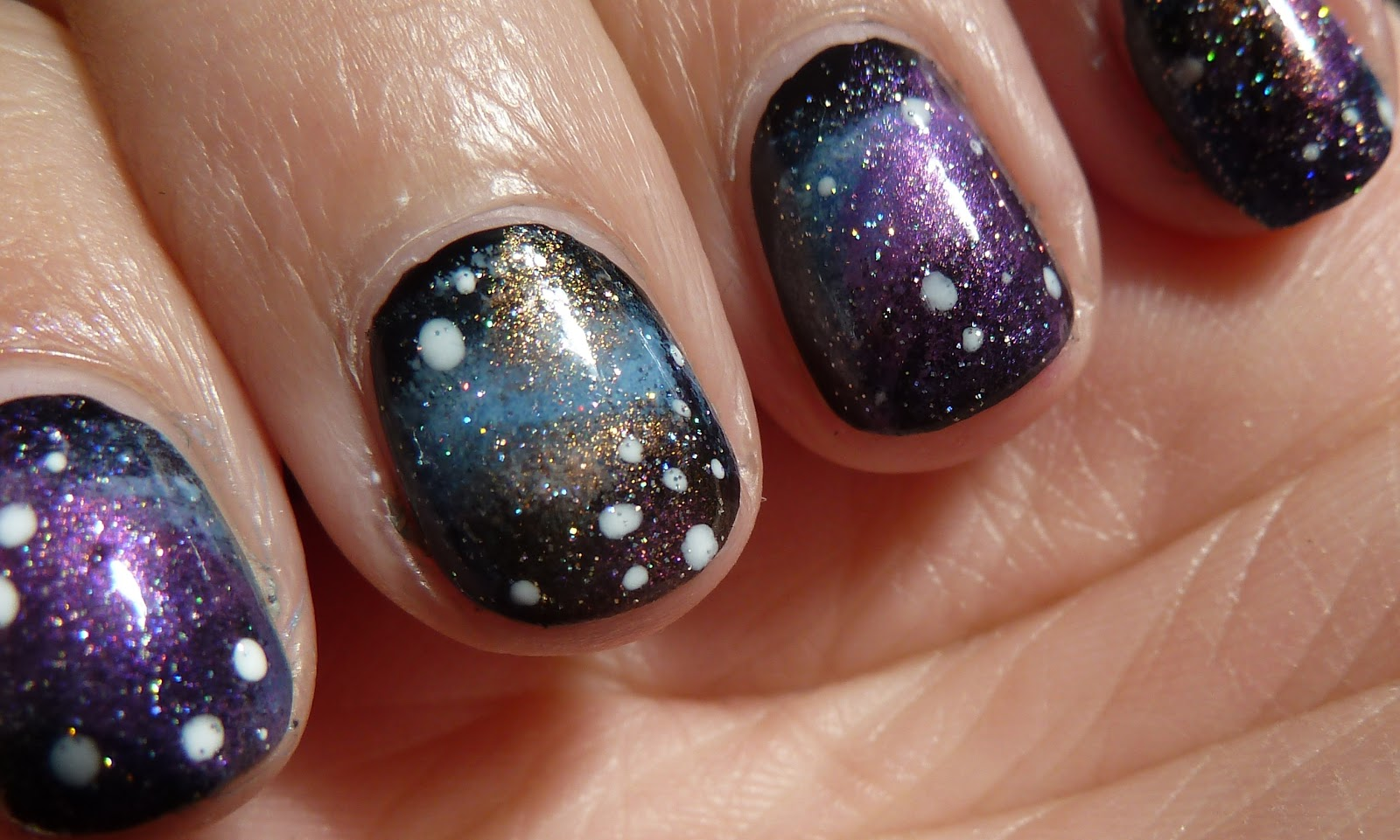 NailsByStephanie: Tutorial: Galaxy Nails