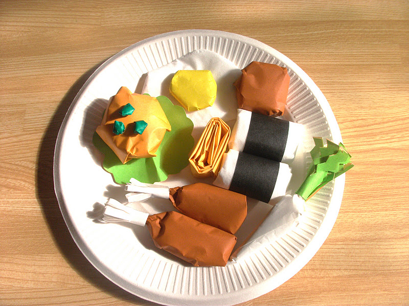 origami food craft ideas preschool education for kids
