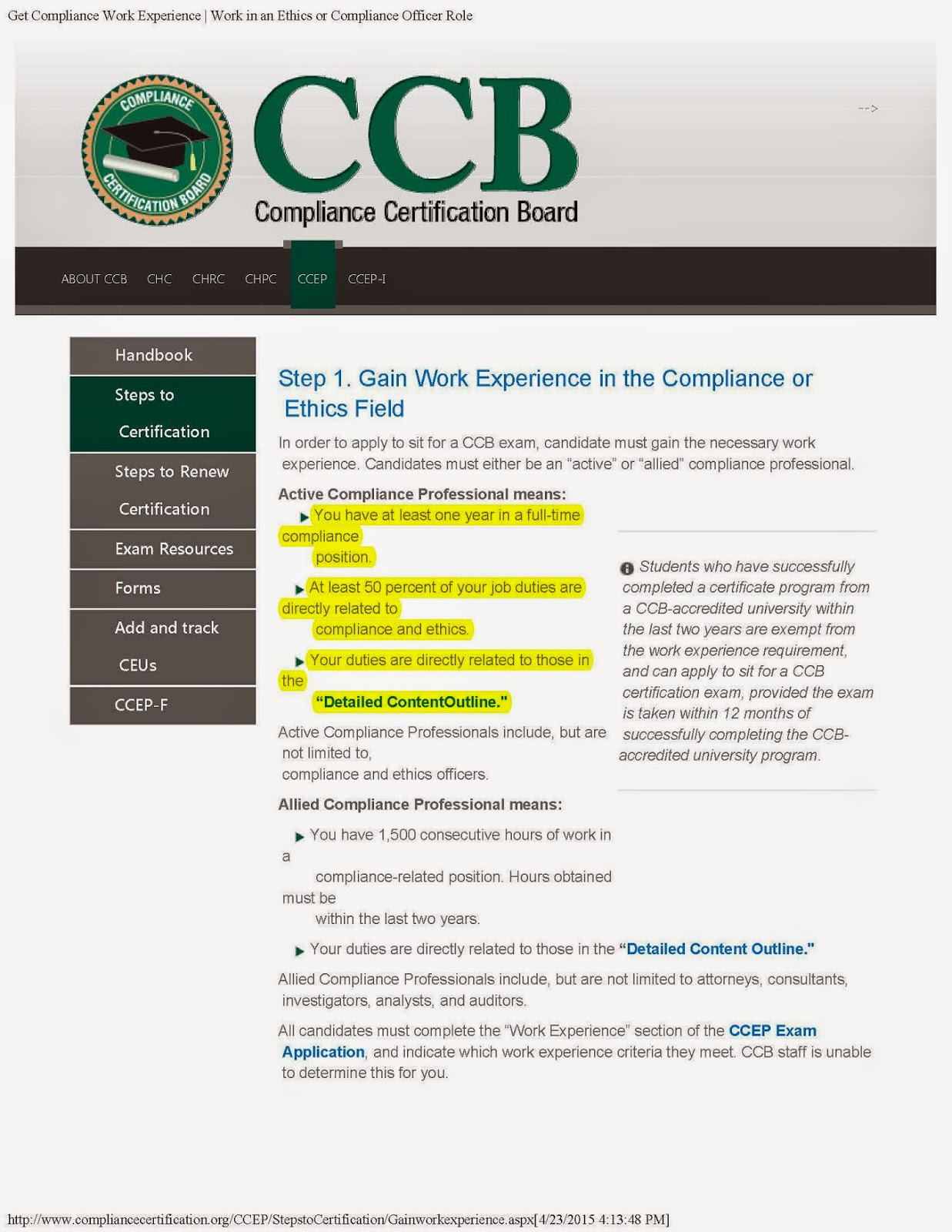 Csu faculty voice april 2015 many professions require ceus to maintain certification ccb requires 20 ccb approved continuing education units in order to sit for the examination 1betcityfo Images