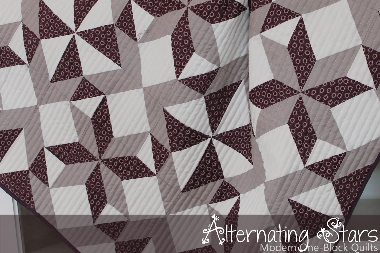 Piece N Quilt: Alternating Stars - A Modern One-Block Quilt : one block quilt - Adamdwight.com
