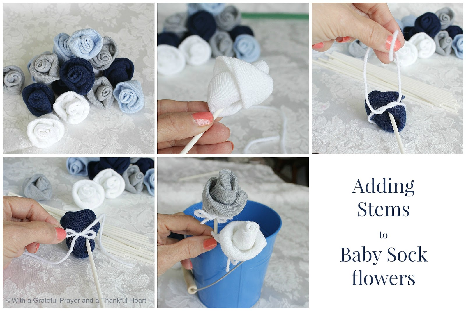 Baby Socks Flower Bouquet - Crafthubs