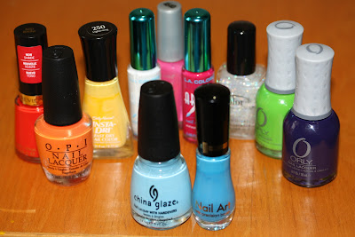 polishes used for Manicurity entry for Rainbow Honey My Little Pony nail art competition