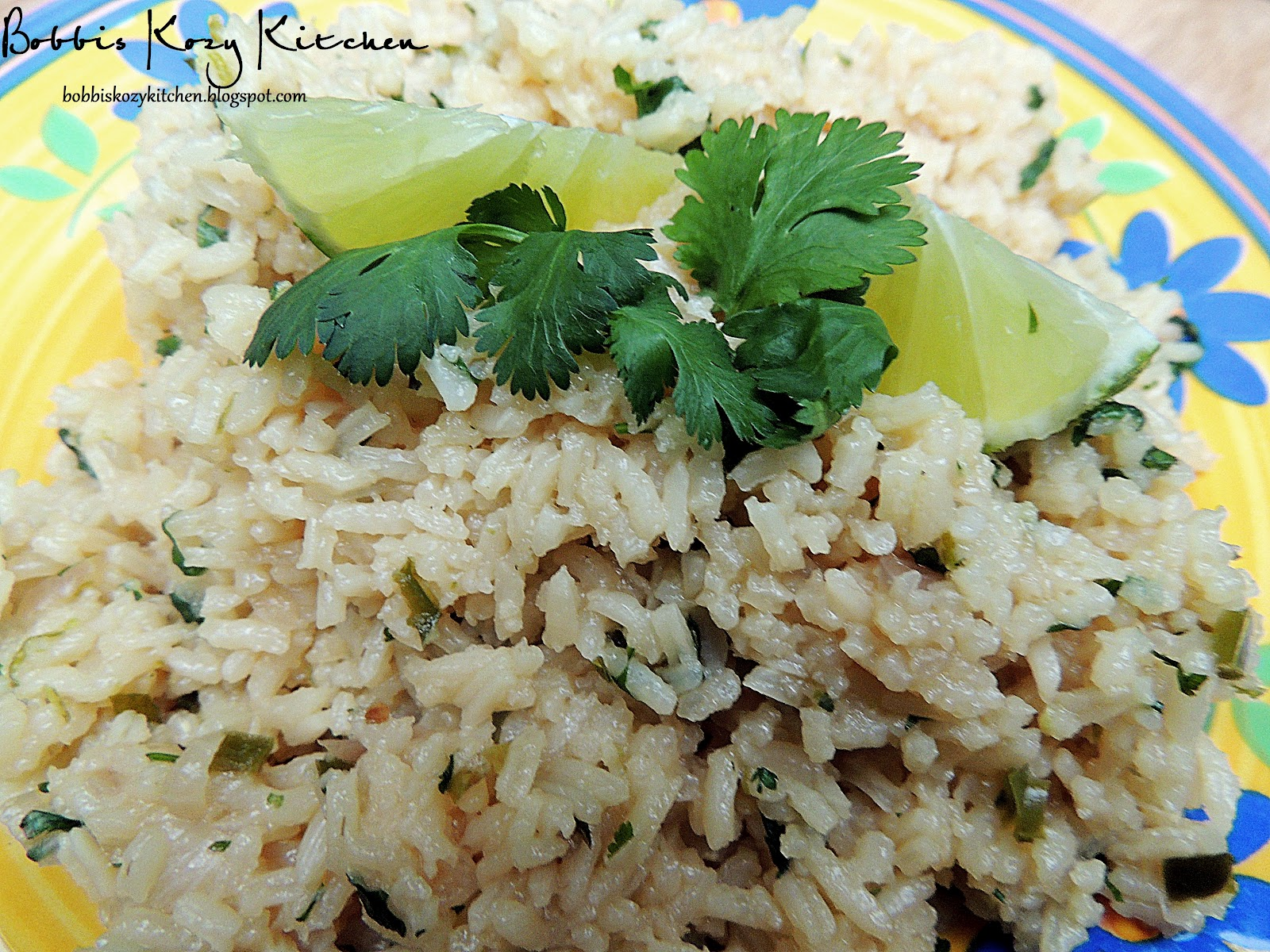 Cilantro Rice with Lime and Serrano | Bobbi's Kozy Kitchen