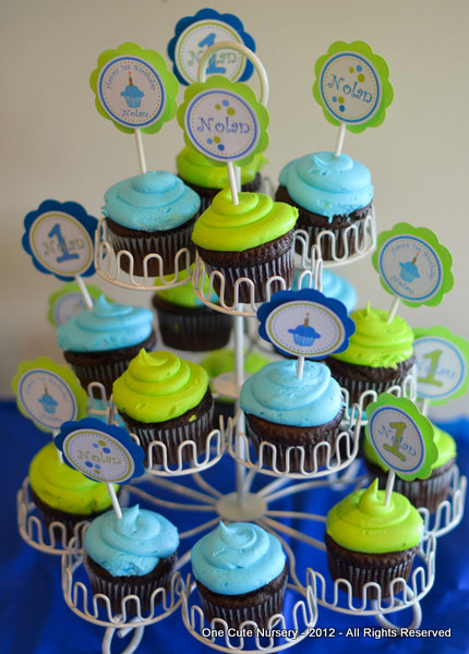 Cupcake Decorating Ideas Birthday Boy : One Cute Nursery: Sweet Little Cupcake Boy Birthday - Baby ...