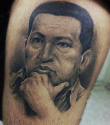 Tatuaje de Hugo Chávez