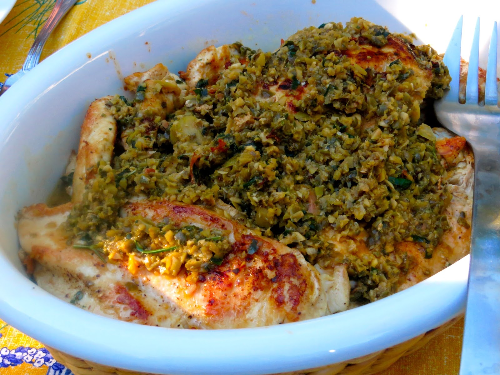What's for dinner: Chicken with white wine, olive and ...