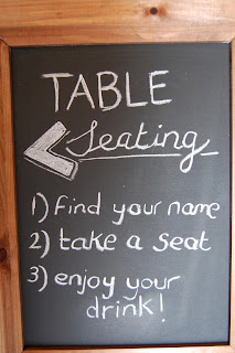 Black board table seating plan