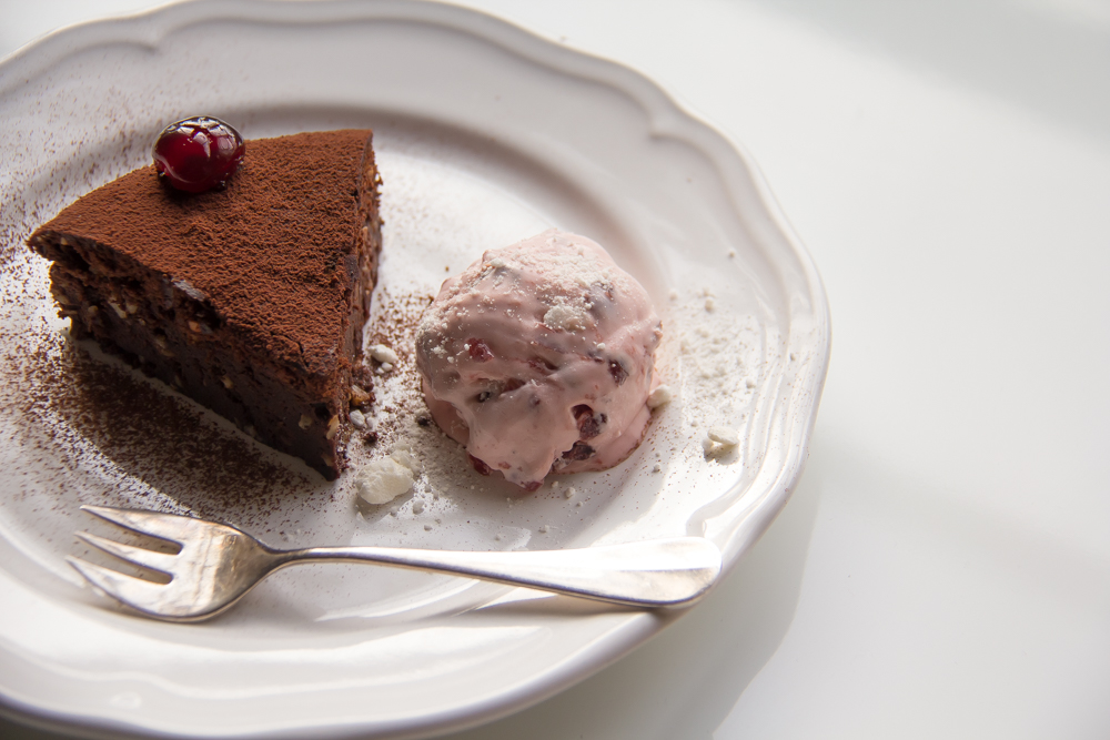 ... blog: chocolate nut torte with sour cherry meringue ice cream recipe