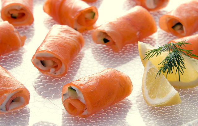 carolynn's recipe box: Smoked Salmon Rolls