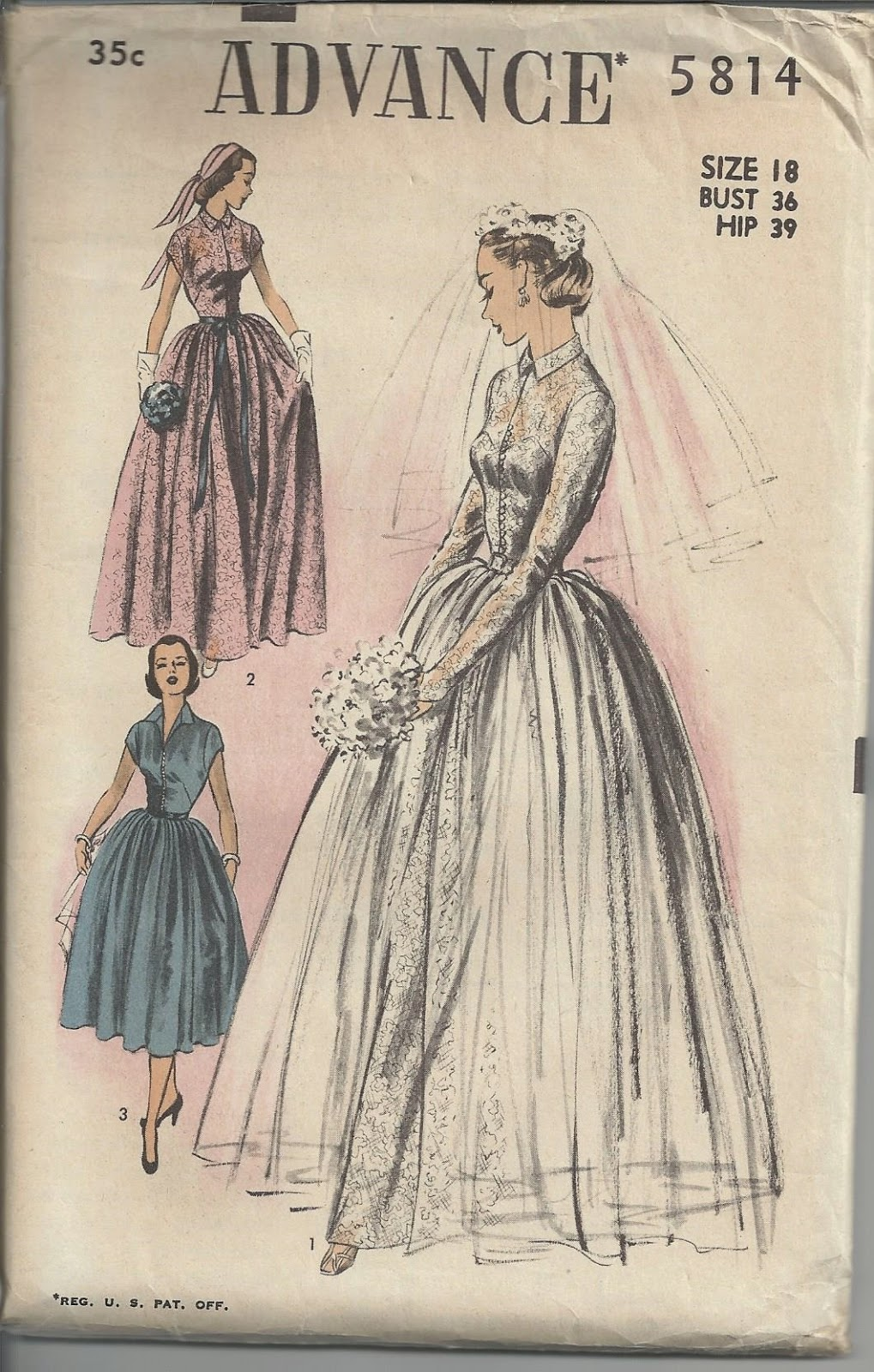 creatingclassiccouture blogspot vintage wedding dress patterns I find that I can combine multiple patterns for that unique look Here is a rare wedding dress pattern in a size 18 that I have available on my Etsy site