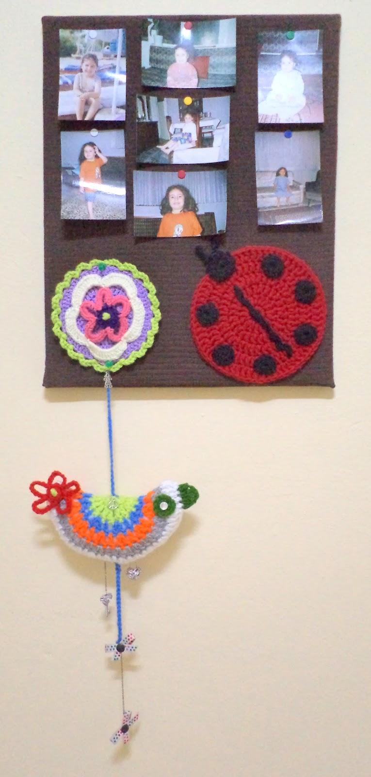 beck to vintage crochet bird hanging decor. Black Bedroom Furniture Sets. Home Design Ideas