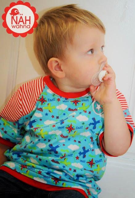 lillestoff Kinderstoffe Take Off Blue aus GOTS Biostoff