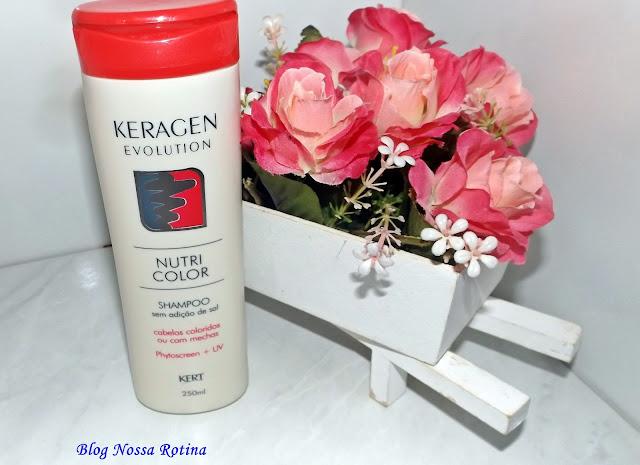 shampoo cabelos coloridos nutricolor keragen kert
