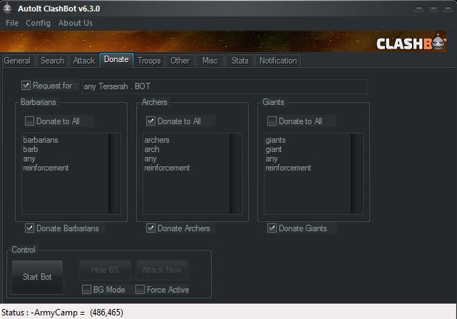 Donate Setting Clashbot V6.3.0