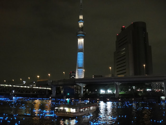 tokyo sky tree with sumida river