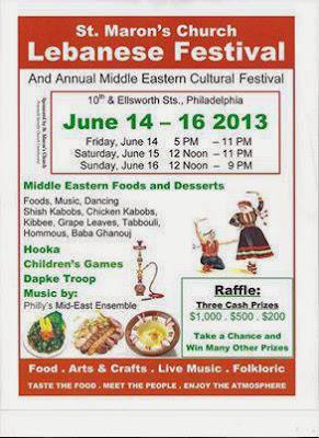 St. maron's Lebanese Festival Poster