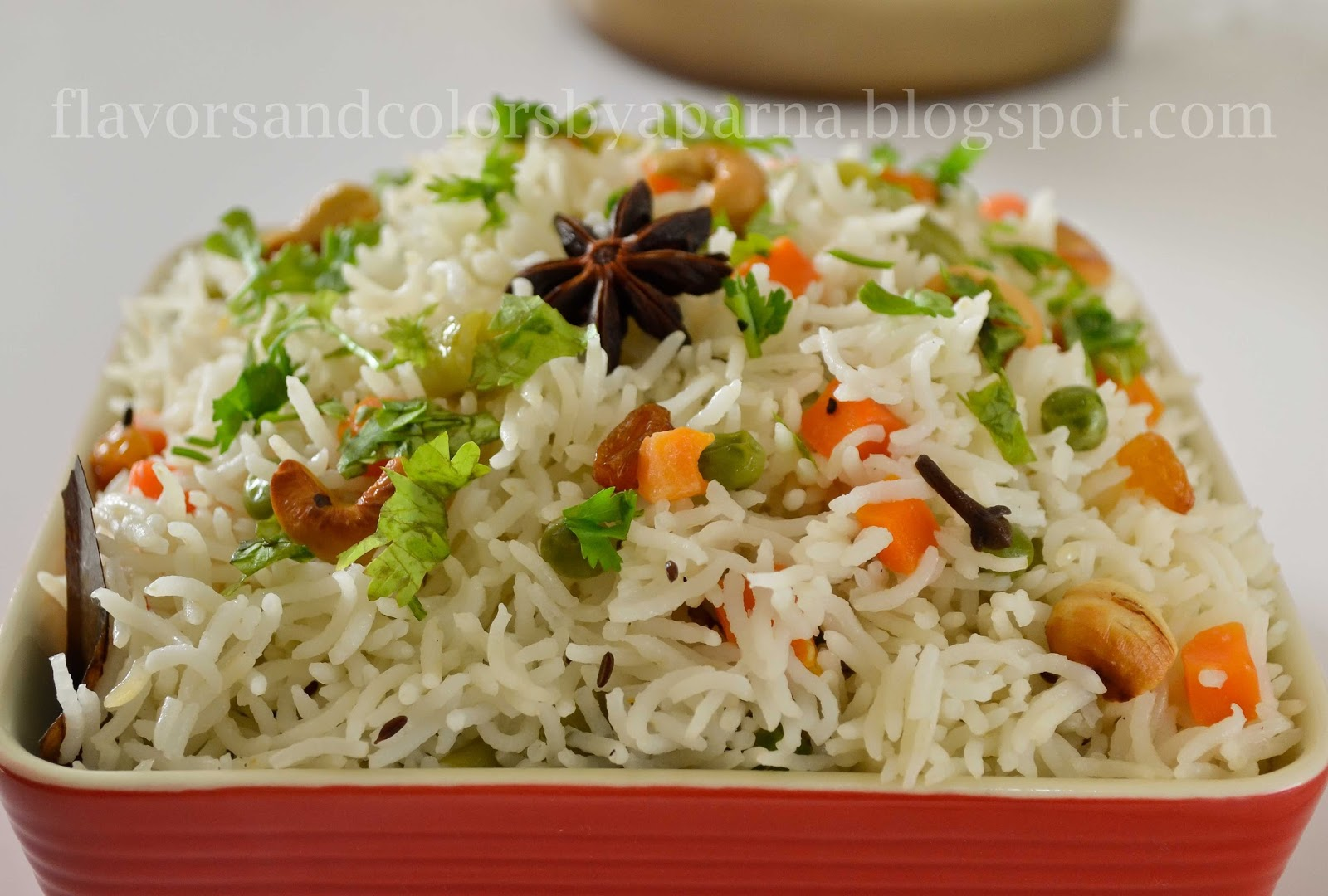 Flavors And Colors: No Onion Garlic Vegetable Pulao