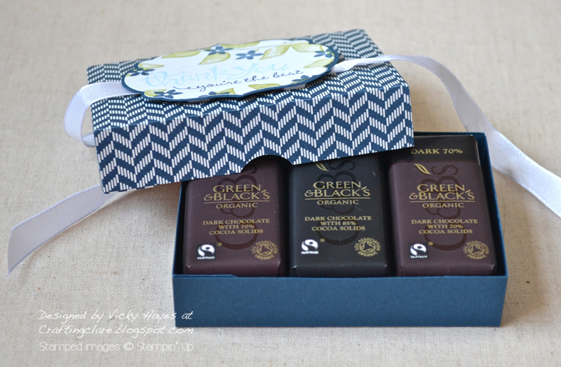 Chocolate box made with Stampin Up products